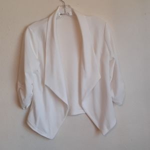 DOUBL JU size S off white knit cardigan